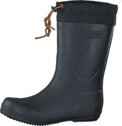 Rubber Boot Winter Thermo Glitter Black