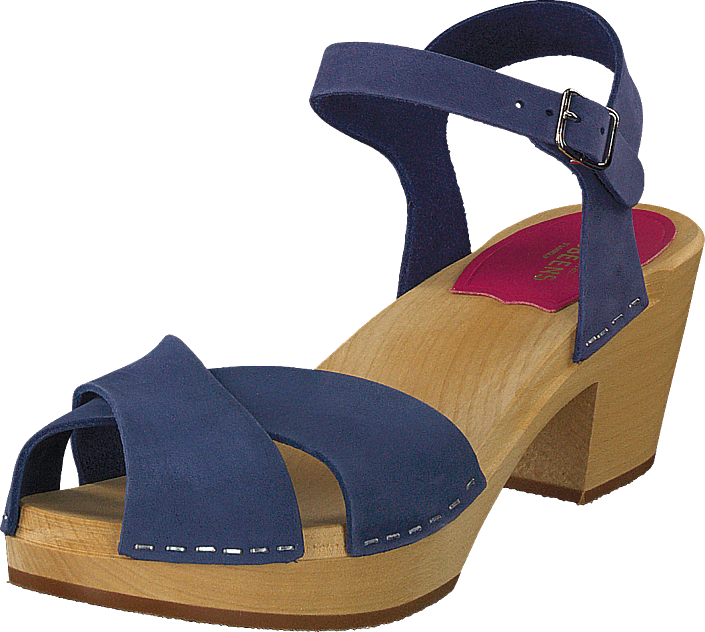 Swedish Hasbeens - Mirja Blue Nubuck