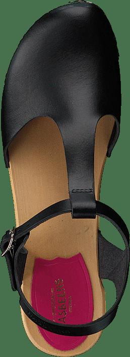 Swedish Hasbeens - T-strap Debutant Black