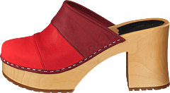 Color Combo Slip In Red Nubuck Color Combo