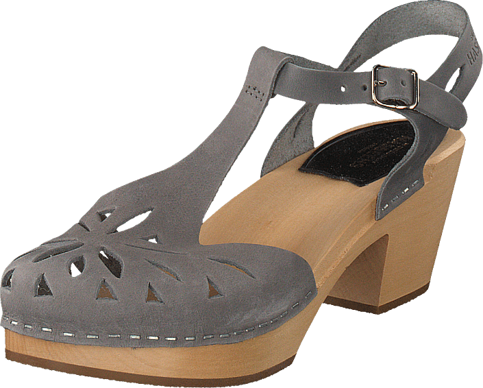 Swedish Hasbeens - Lacy Sandal Dark Grey Nubuck