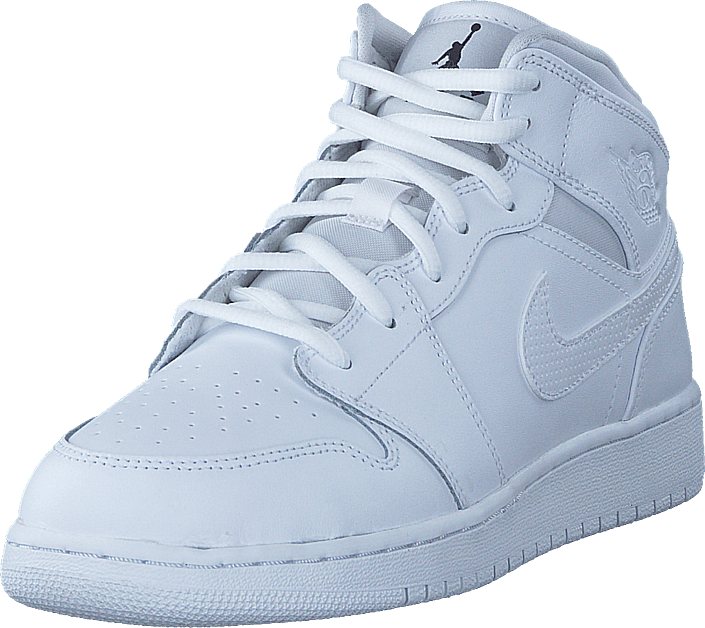 Air Jordan 1 Mid (gs) Shoe White Black White