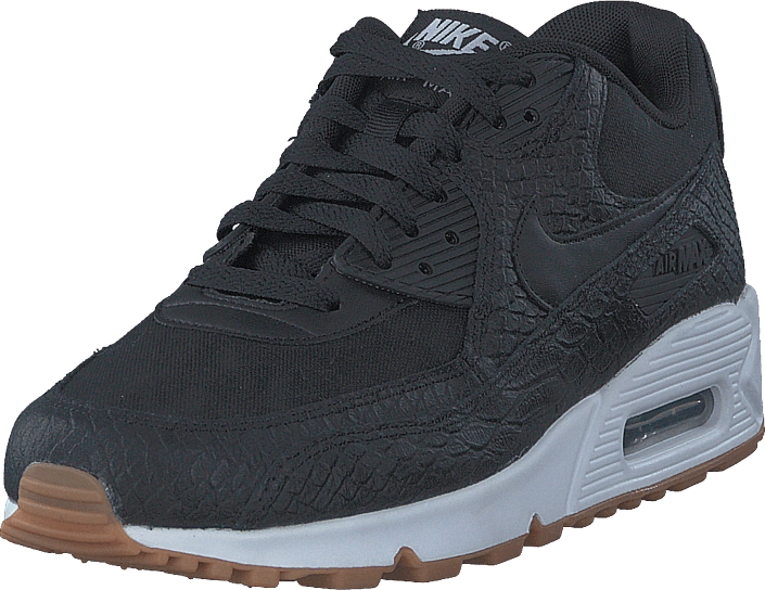 Nike - Air Max 90 Premium Shoe Black/black-gum Yellow-white