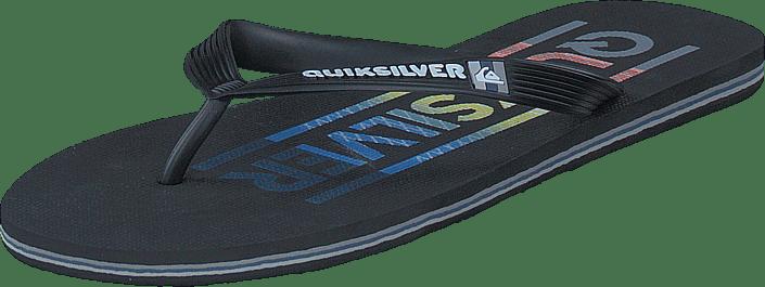 Quiksilver - Molokai Wordmark Black/Red/Blue