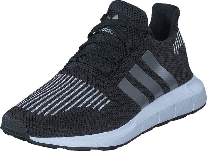 adidas Originals - Swift Run J Core Black/Silver Met/White