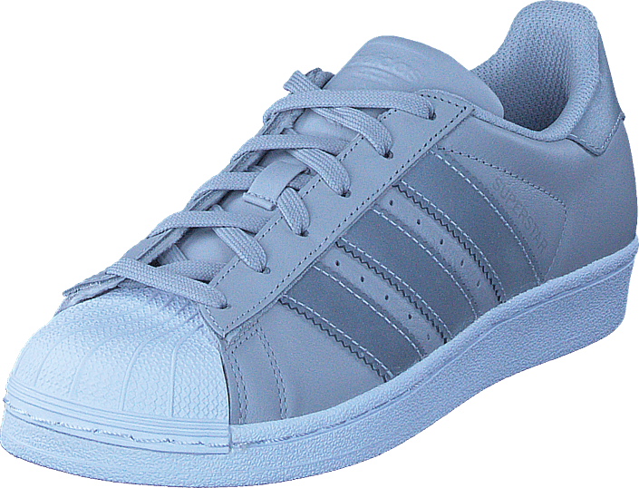 adidas Originals - Superstar J Lgh Solid Grey/Silver Met/Wht