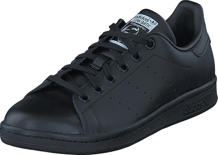 adidas Originals - Stan Smith J Black/Black/Ftwr White