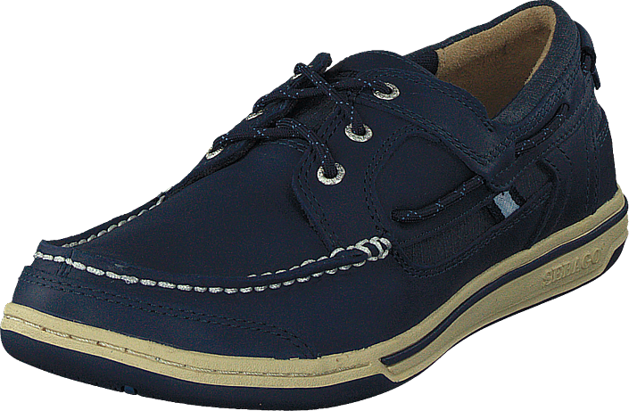 Sebago - Triton Three Eye Navy Leather