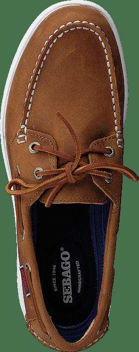 Sebago Litesides Two Eye Med Brown Leather 415895479