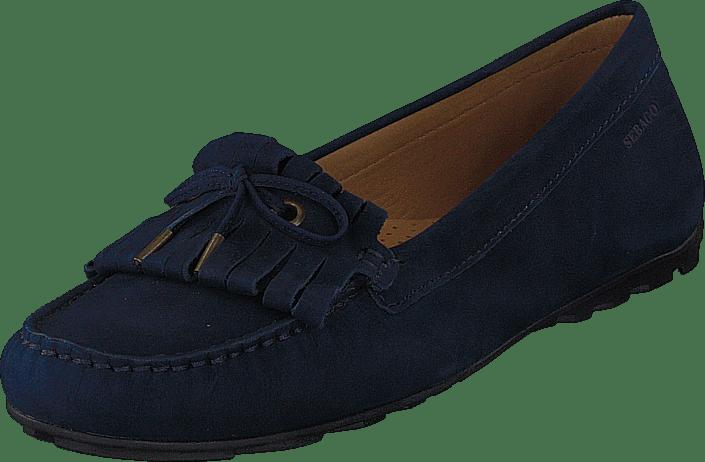 Harper Kiltie Tie Navy Nubuck