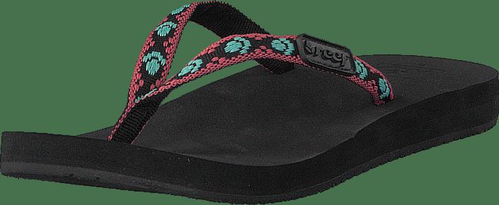 1ec0704034c87 Buy Reef Ginger Black Aqua Pink black Shoes Online