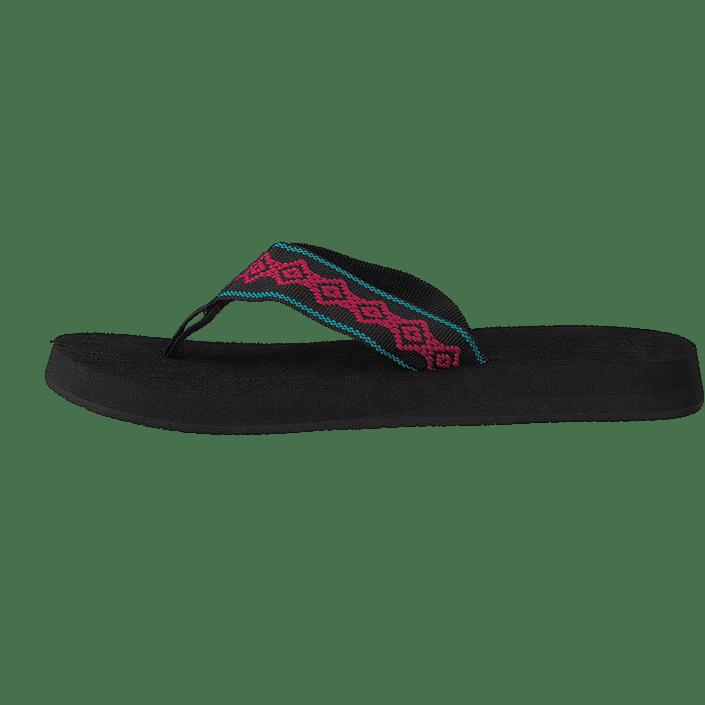 Femme Chaussures Acheter Reef Sandy Noir/Pink Chaussures Online