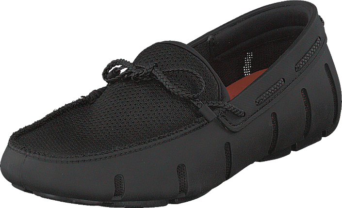 Braided Lace Loafer Black