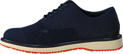 Barry Oxford Knit Navy Melange/Orange