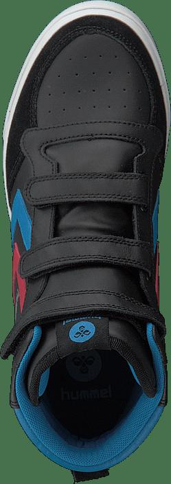Hummel - Stadil Jr Leather High Black/Brilliant Blue