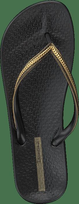 Ipanema - Anatomica Metallic Fem Black/black/gold