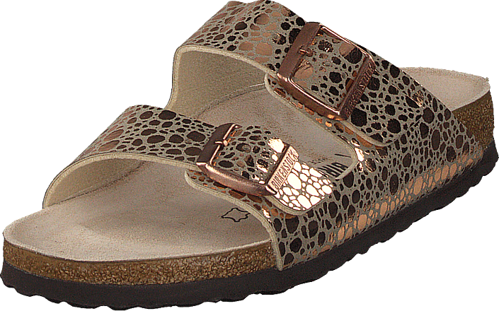 Birkenstock - Arizona Slim Birko-flor Metallic Stones Copper