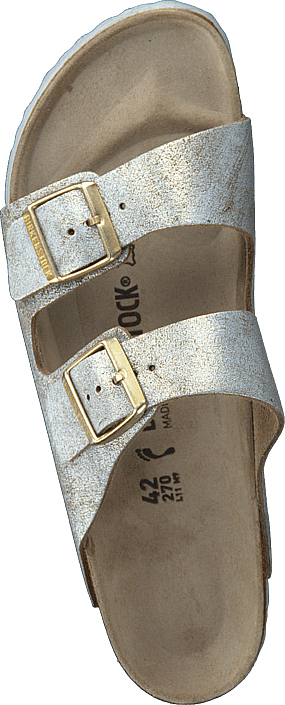 Birkenstock - Arizona Slim Washed Metallic Blue Silver