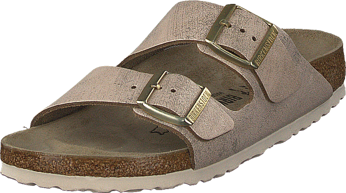 Birkenstock - Arizona Slim Washed Metallic Rose Gold