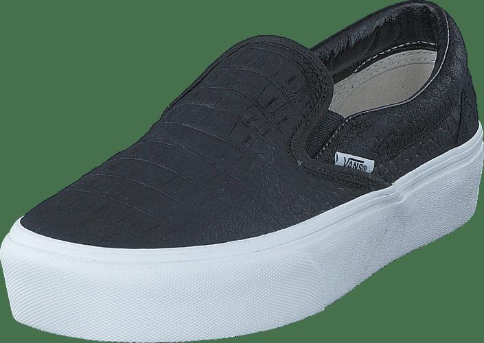 2cde571882d0f Buy Vans UA Classic Slip-On Platform (Embossed) Black  White black ...