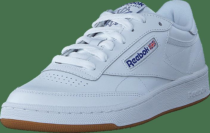 f0f74a35bf2 Buy Reebok Classic Club C 85 Int-White Royal-Gum white Shoes Online ...