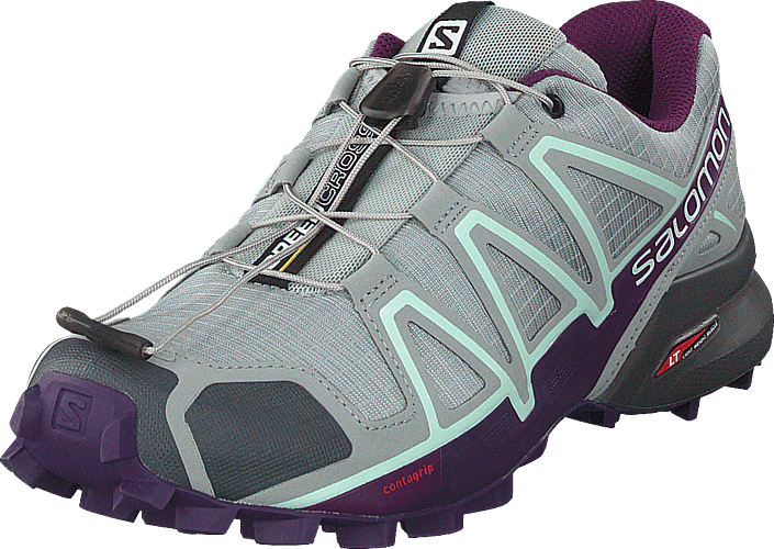 Salomon - Speedcross 4 W Quarry/Acai/Fair Aqua