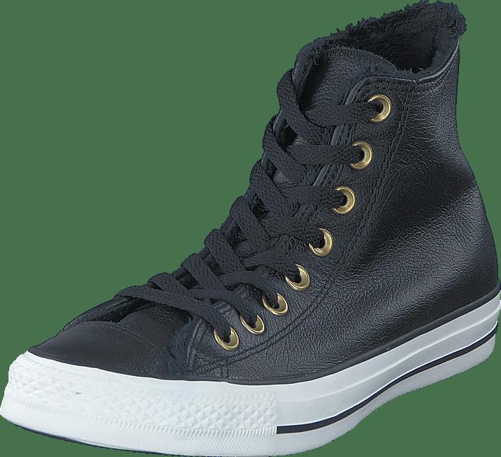 b91565bf936 Køb Converse All Star Leather Hi Black/Egret grå Sko Online | FOOTWAY.dk