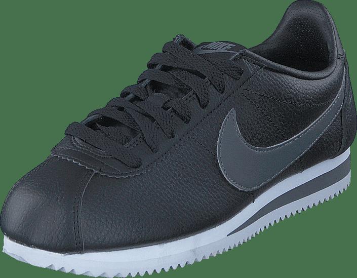 Leather white Online 60049 53 Black Sko Classic Nike Og Sportsko Grå Cortez dark Grey Sneakers Køb wqp10Stx