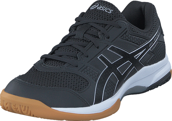 d255098676472 Buy Asics Gel-rocket 8 Black black white black Shoes Online ...