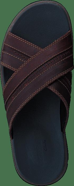 Clarks - Brixby Cross Dark Brown Lea