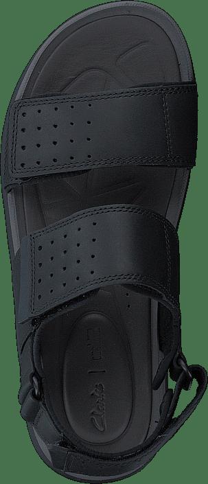 Clarks Garatt Active Black Leather Chaussures Homme