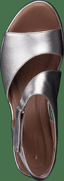 9b6edff80591 Buy Clarks Un Plaza Sling Gold Metallic grey Shoes Online