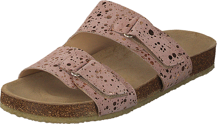 0bcd29be10bb Køb Angulus Footbed Sandal With Velcro Black W. Black Dot brune Sko ...