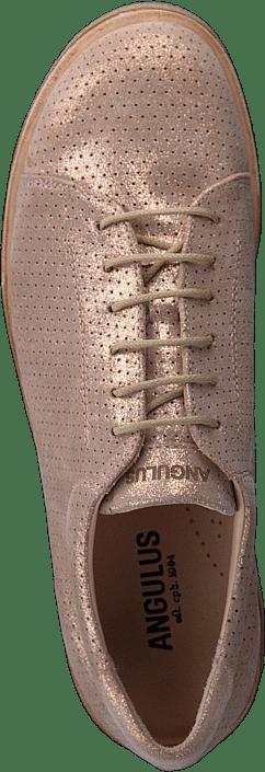 Sneaker With Plateau Sole Copper Glitter