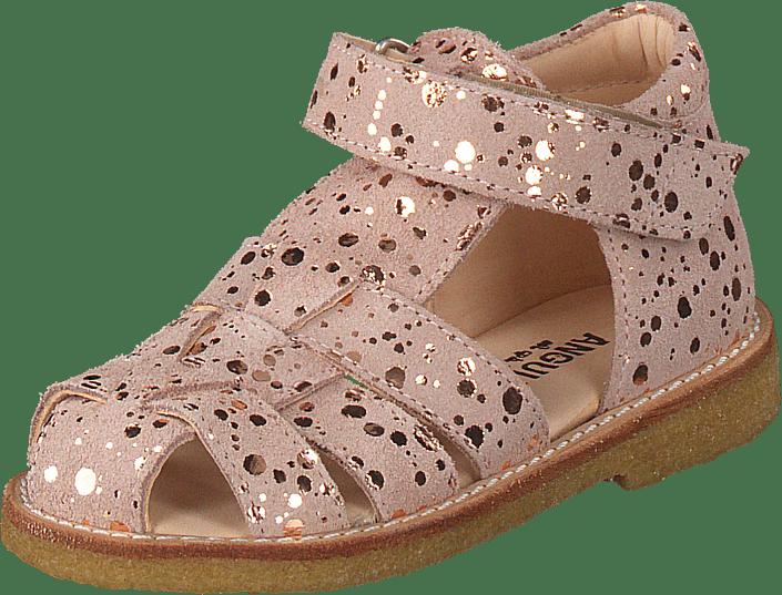 e0be3cb78426 Køb Angulus Fisherman Sandal W. Velcro Rose W. Copper Dot lyserøde ...