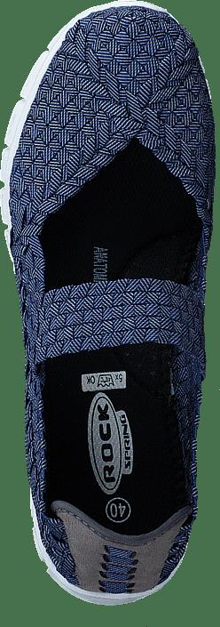 Kjøp Rock Spring Bonita Navy Ratan blå Sko Online   BRANDOS.no