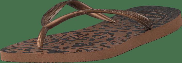 6bd6c61573ca45 Buy Havaianas Slim Animals Rust oxido brown Shoes Online