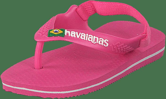 Buy Havaianas Baby Brasil Logo Ii Shocking Pink pink Shoes Online ... e93f44194403