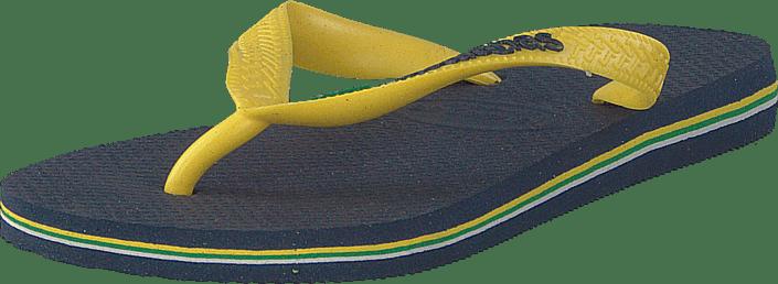 Havaianas - Brasil Logo Navy Blue/citrus Yellow