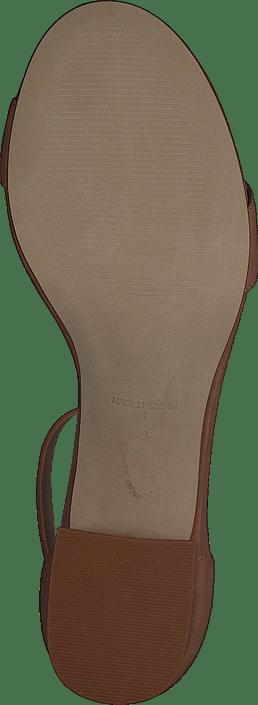 Indigo Mid Heel Sandal Camel