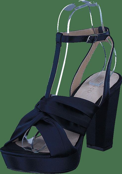 Satin Strap Sandal Navy Blue