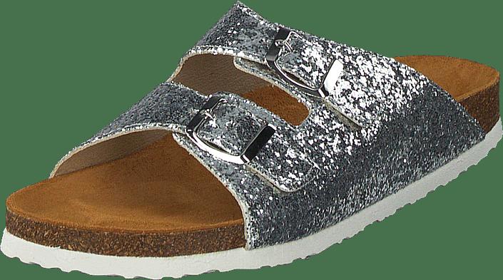 Kjøp Bianco Glitter Bio Sandal Silver sko Online | FOOTWAY.no