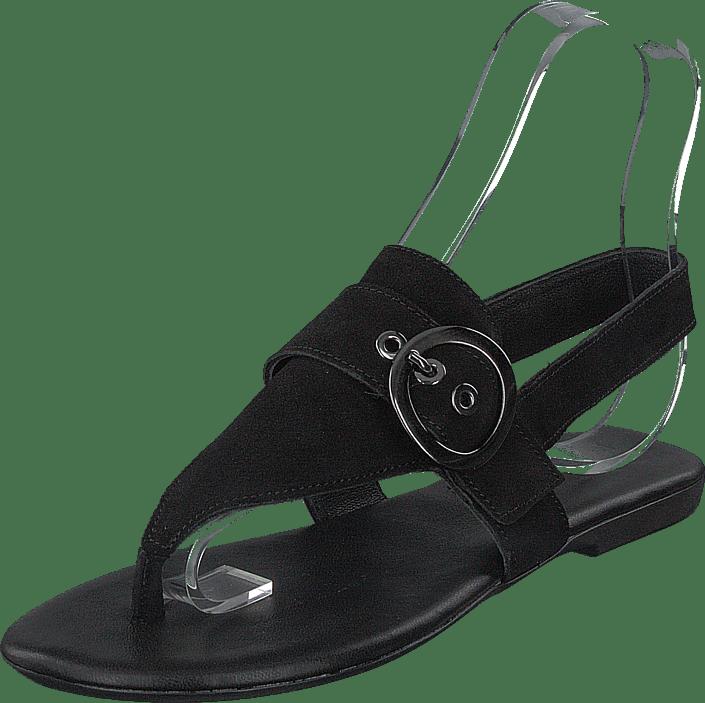 Bianco - Round Buckle Sandal Black