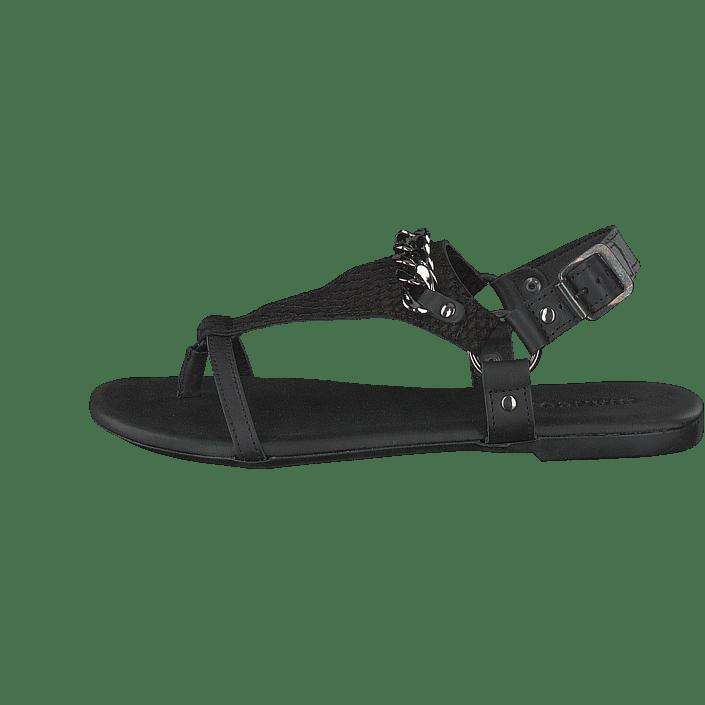 Acheter Triangle Chaussures Bianco Black Online Sandal Chain Noires RrRw5q