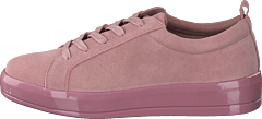 Laced Up Suede Sneaker Light Pink