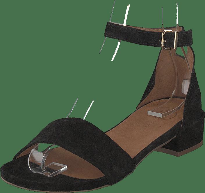 a7b9d465a778 Køb Bianco Classic Suede Sandal Black brune Sko Online