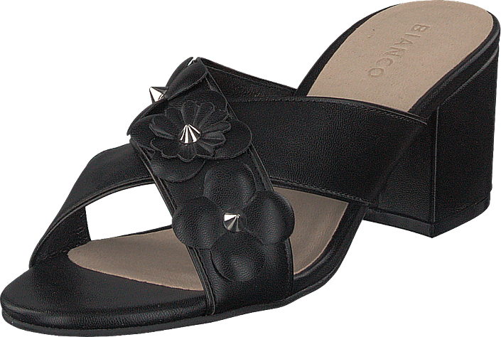 Bianco - Flower Cross Sandal Black
