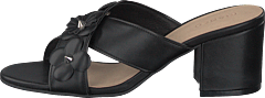 Flower Cross Sandal Black