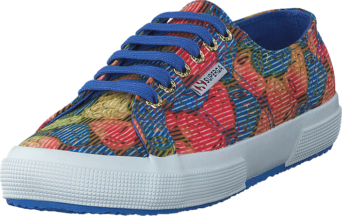 Superga - Fabricfanplw Tribal Brown-blu-red