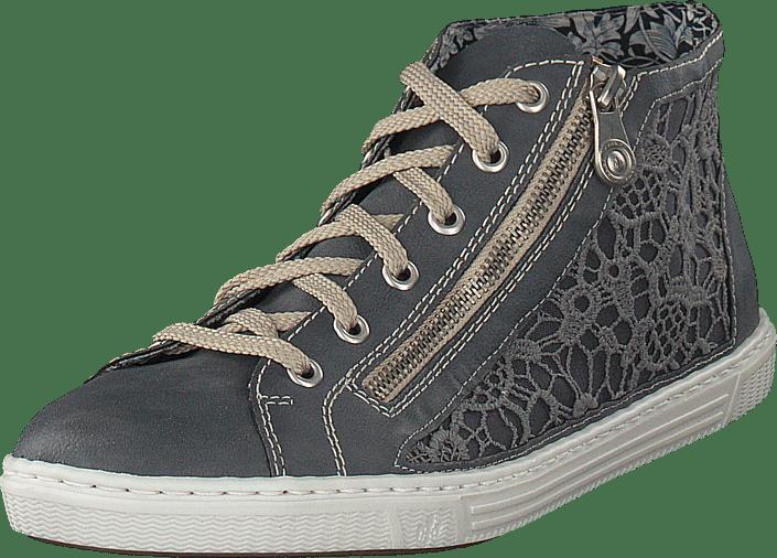 Kjøp L0912 Jeans Rieker Sko Online Grå Sneakers 14 FFpwr